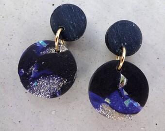Bambino Earrings - Galaxy / Stud Earrings / Drop Earrings / Abstract Earrings / Modern Earrings