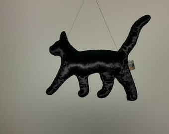 Big Black Cat Art Doll