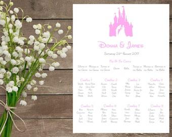 Cinderella Wedding - Cinderella Wedding Table Plan - Disney Wedding - Cinderella Theme