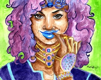 Original Seductive Queen_ Watercolor