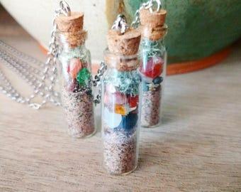 Lake Superior Bottle Necklace