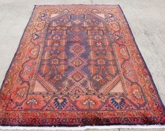 FREE SHIPPING!!! Persian Rug, Nomadic Rug, Muted Color Rug , Vintage Rug , Natural Dye Anatolian Rug, Boho Rug  200 x 125 cm / 6.5 x 4.1 ft