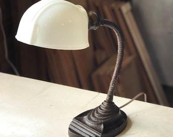 1930's Gooseneck Eagle Brand Desk Lamp Antique Vintage Industrial Art Deco Rewired
