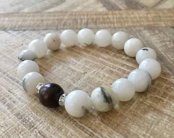 Quartz Bracelet, Quartz Jewelry, Resort Jewelry, Natural Gemstone Jewelry, Boho Bracelet, Beach Bracelet, Vacation Jewelry