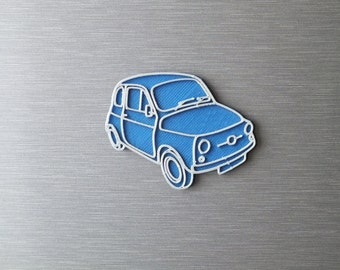 3D printed - Retro magnets - Fiat 500