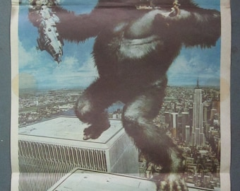 King Kong (1976) - Australian Daybill Poster - Jeff Bridges - Jessica Lange