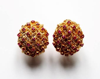 Ruby trelli earrings by Bucherer