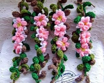 Bouquet of flowers rubber hair crochet