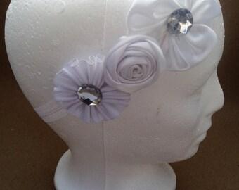 Bandita flowers for baby white. Heandbands Flower White Baby Girls.Hair accessories.