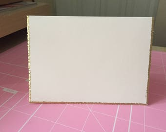 Gold or Silver Trim Blank Note Card/ Note Cards (set of 30)