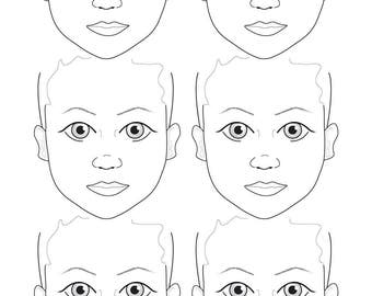 A2 6 Face Child's Portrait Display and Practice Sally-Ann Lynch Training Tried & Tested board (420 x 594 milimetres)
