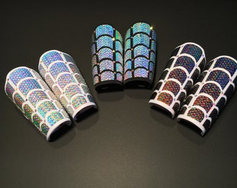 Holographic Shell Arm Braces | Rave Jewelry | Rave Accessories | Mermaid Cosplay | Mermaid Accessory | Bracers | Beyond Wonderland