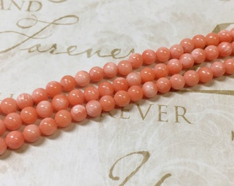 AA quality, Pink Coral Beads, Round, 4mm, Full strand,