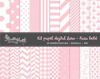 50% OFF - Digital Paper Basic Pink Baby