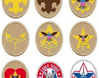 Scout Rank Badges for cakes and cupcakes