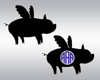 Show pigs svg, Flying pig svg, Pig svg, Farm animal svg, Livestock svg, Farm svg, Cricut, Cameo, Cut file, Clipart, Svg, DXF, Png, Pdf, Eps