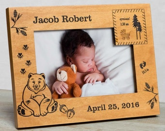 Personalized Baby Picture Frame, Baby Boy Picture Frame, New Baby Boy Frame, Baby Boy Frame, Baby Boy Birth Frame, Picture Frame Baby Boy