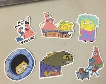 Songebob stickers