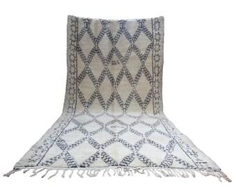 Large vintage Beni Ourain Berber carpet Beni Ouarain 184 x 417 cm 44 years old