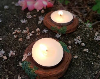 Miniature Enchanted Forest tea Light Candle Holder