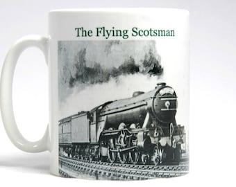 The Flying Scotsman Mug, The Mallard Mug, Steam Train Mug, Steam Train Gift.