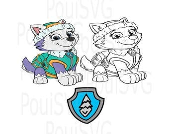 Paw Patrol SVG, Everest SVG,png, dxf, silhoutte cutting files, Cricut cutting files, T-shirt design, Scrapbooking