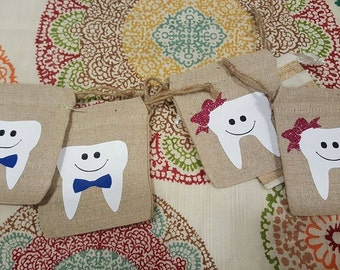 Tooth Fairy Bag - Tooth Fairy Pouch - Personalized Tooth Fairy Bag - Personalized Tooth Fairy Pouch