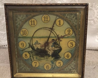 Antique Windable Table Clock rare