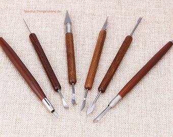 6 pcs set Carving tool carving knife sculpting tool pottery clay processing - clay mud lime loam nick cut carving tool