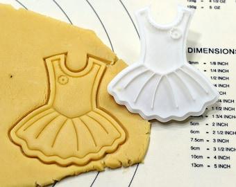 Cute Tutu Dress Cookie Cutter and Stamp