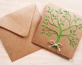 Hand Cut Tree Card