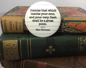 Walt Whitman Leaves of Grass A Great Poem Button or Magnet