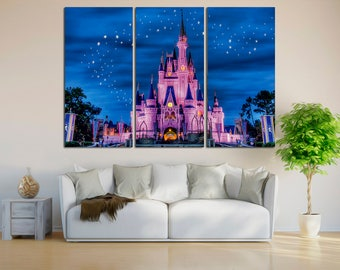 Disney Castle Canvas Print, Disney Wall Decor