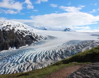Exit Glacier; Kenai Fjords; Kenai mountains; Harding Ice Field; Alaska; Landscape; Mountain; travel photography; bedroom; bathroom; cabin