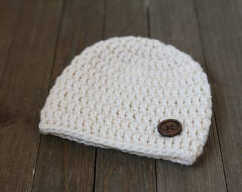 Newborn Crochet Hat, Newborn Photography Prop, Baby Crochet Beanie, Baby Photo Prop, Photography Prop Newborn, Newborn Outfit, Neutral Hat