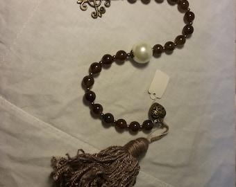 Coffee Agate Paternoster Prayer Beads