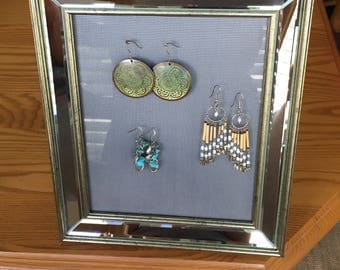 Earring Holder Picture Frame, Earrings Organizer, Earring Display, Earring Screen, Big Earring Holder, Large Earring holder.