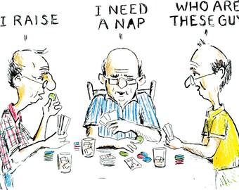 Old Men Playing Poker