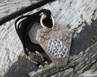 Bronze and Silver Pendant