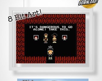 The IT Crowd Zelda Digital 8 Bit Art!