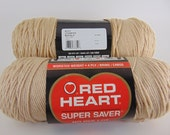 Buff -  Red Heart Super Saver yarn worsted weight  2022
