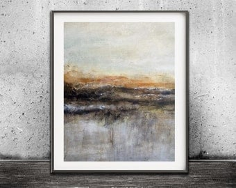 Abstract Landscape Printable Digital Download Art Print Earth Tones Modern Art Contemporary Urban Painting Interior Design by Sky Whitman