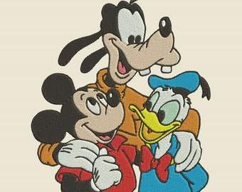 Mickey and Friends Donald Duck and Goofy Machine Embroidery Design