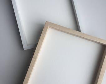 Wood frame 8 x 10 inches, handmade