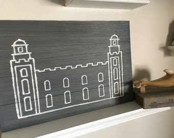 8X12 LDS Temple pallet art