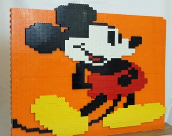 Lego Sculpture- Mickey Mouse (Free Standing with a base)