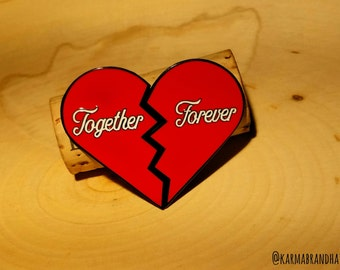 Together Forever TWO Piece Lapel Pin