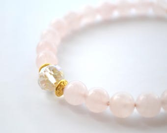 Rose Gold Yoga Beaded Gemstone Bracelet