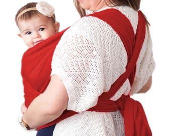 Baby Wrap Carrier | Baby Carrier | Baby Sling Carrier | Postpartum Belt | Nursing Cover | Best Baby Shower Gift (Red)