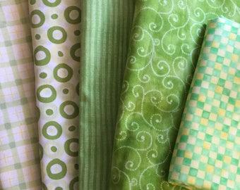 Fabrics - Green Colorway